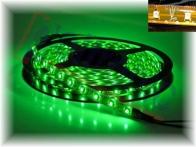 Taśma led NEXTEC 12V / SMD 5050 - 150 LED / IP63 / ZIELONY / PODŁOŻE BURSZTYN / ROLKA 5m / 10mm